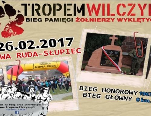 """Zaproszenie naBieg """"Tropem Wilczym"""" wNowej Rudzie – Słupcu wdniu 26 luty 2017 roku"""