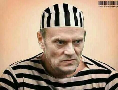 Donald Tusk jest więc winny wspierania działalności przestępczej Amber Gold ipowinien zato odpowiedzieć