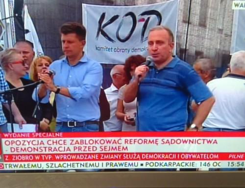 """Opozycja i""""dyktator Kaczyński"""""""