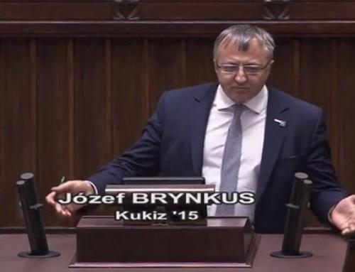 Poseł prof.Józef Brynkus: Niektórym posłom się wydaje, żejak mają organ mowy tomogą wPOLSKIM Sejmie gadać głupoty