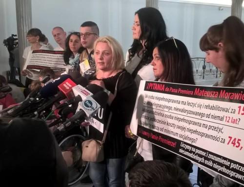 Rozpoczął się kolejny protest Rodziców dzieci niepełnosprawnych wSejmie