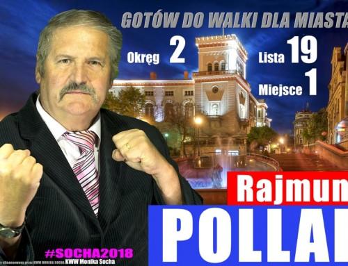 Rajmund Pollak kandyduje doRady Miasta Bielska-Białej wokręgu Nr2 zKWW Moniki Sochy