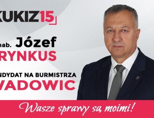 Kandyduję dla Wadowiczan idla Wadowic – mówi drhab. Józef Brynkus