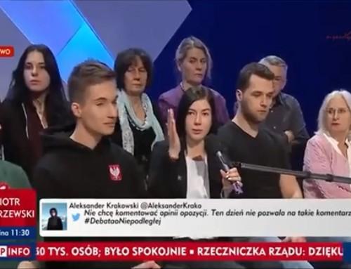 Młoda patriotka zgasiła wTVP nażywo posłankę PO: Reprezentuje pani partię, którazpatriotyzmem niema nic wspólnego
