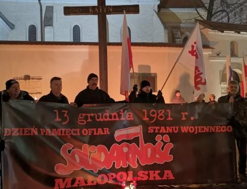 Rocznica wprowadzenia stanu wojennego A. D. 2018 wKrakowie