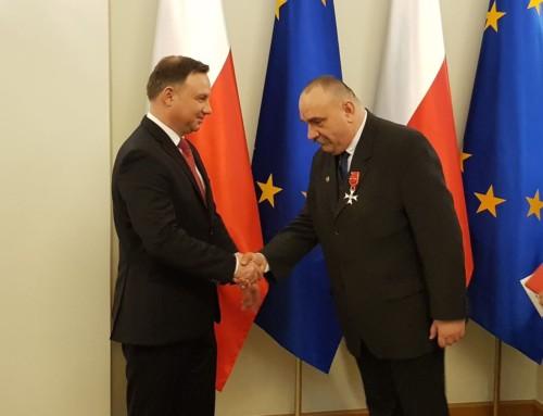 Prezydent RP drAndrzej Duda odznaczył Michała Siwca-Cielebona Krzyżem Oficerskim Orderu Odrodzenia Polski