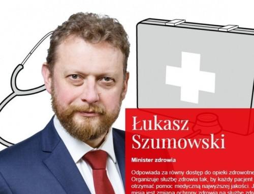 Minister Szumowski niewie kiedy wPolsce można spodziewać się szczytu zachorowań naCOVID-19 ikońca pandemii