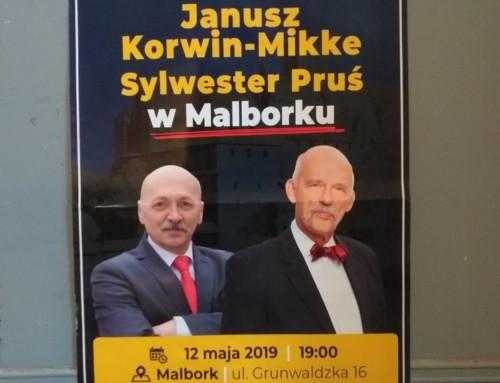 Janusz Korwin-Mikke wMalborku