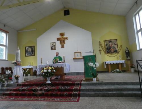 Spotkanie pielgrzymów  popowrocie zRosji.