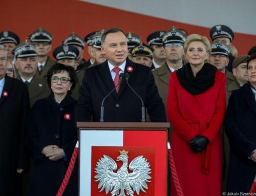 """Prezydent RP Andrzej Duda: """"Jesteśmy Polakami iobowiązki mamy polskie, odprawa dolewa"""""""