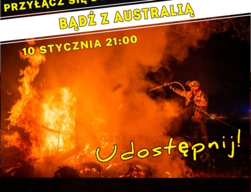 Symboliczne wsparcie Australii wobliczu dramatu