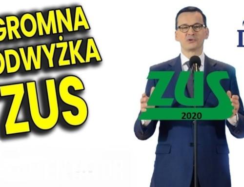 Rekordowa podwyżka składek ZUS bo PIS niema pieniędzy!