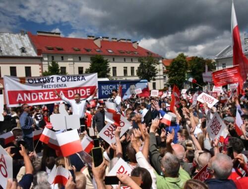 Olkusz popiera Andrzeja Dudę wwyborach prezydenckich A.D. 2020