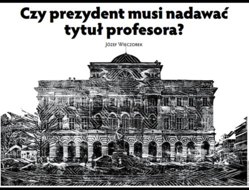 Czyprezydent musi nadawać tytuł profesora ?